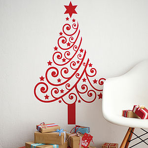 Christmas Tree Wall Sticker - bedroom