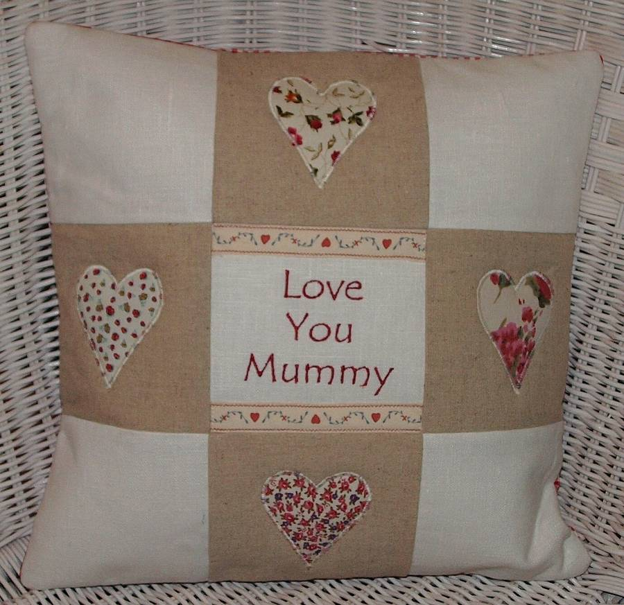 Tuppenny House Designs 'Love You' Cushion