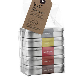 Five Tea Tins Assortment - food & drink gifts
