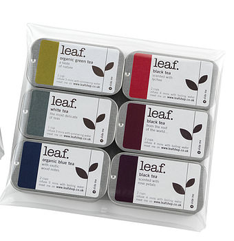 Six Mini Tea Tin Taster Set