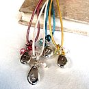 Alphabet Beanie charms on beautiful pearlised leather
