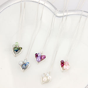 Mini Open Heart Necklace In A Variety Of Colours