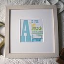Personalised Big Letter Print