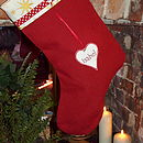 Ruby Linen Stocking
