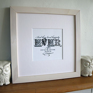 Forever In Love Personalised Art print - wedding gifts & cards sale