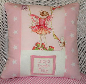 Flower Fairy Tooth Fairy Cushion