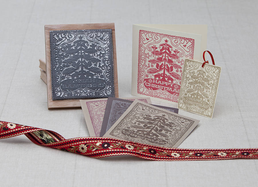 Handmade Christmas Rubber Stamp By Noolibird Rubber Stamps ...