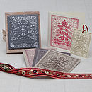 Stamped cards happy christmas tree stamp