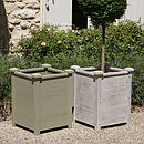 Painted Sage & Distressed White Tall planters
