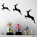 Prancing Deer Wall Stickers
