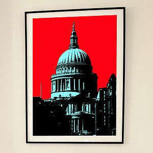 'St Paul's London' Limited Edition Print - posters & prints