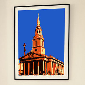 'St Martin In The Fields London' Print - contemporary art