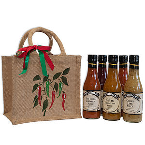 Hand Painted Bag Of Six Sauces - sauces & marinades