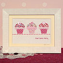 Personalised Embroidered Cupcakes Artwork