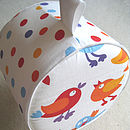 Pouffe with Red Bird