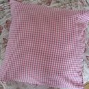 Pink gingham cushion