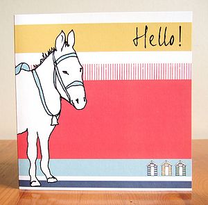 Hello Donkey Greetings Card