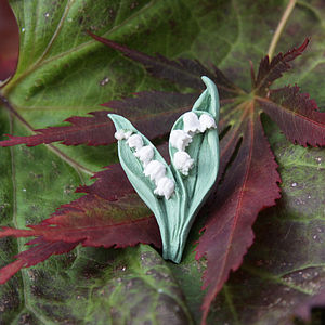 Lily Of The Valley Lapel Pin - women's jewellery
