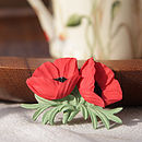 Double Poppy Brooch