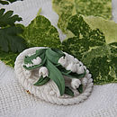 Lily Of The Valley Cameo Brooch