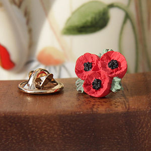 Poppy Trio Lapel Pin