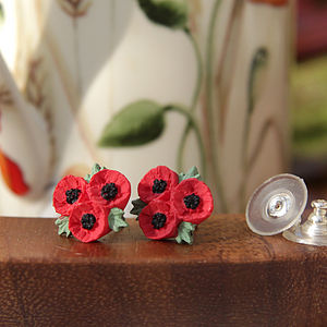 Poppy Trio Stud Earrings - earrings