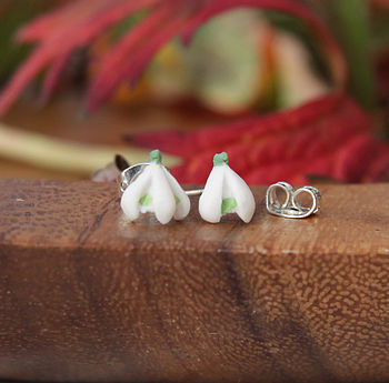 Single Snowdrop Stud Earrings