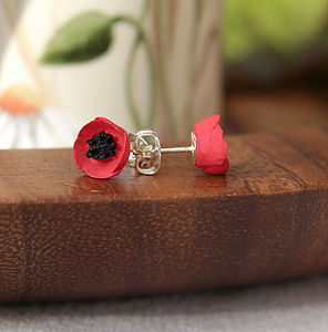 Single Poppy Earrings - earrings