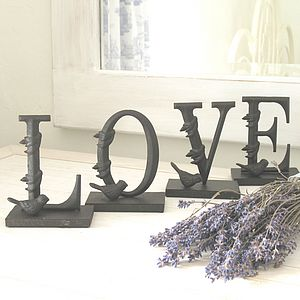 'Love' Letters With Birds - decorative letters