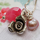 Girls Winter Rose Necklace