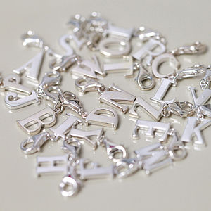 Sterling Silver Initial Clip On Charms - charm jewellery