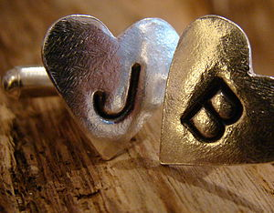 Personlised Love Letter Cufflinks - cufflinks