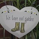 Garden wellies heart