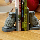 Stone Owl Bookends (Pair)