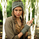 Misty Turban and Wrist Warmers Knitting Kit