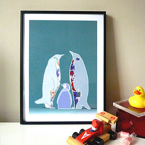 Penguin Print - children's pictures & paintings