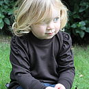 Merino Wool Puff Sleeve Top Chocolate