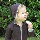 Merino Wool Reversible Hoodie Chocolate side
