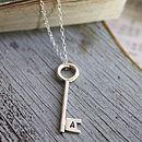 Key necklace silver
