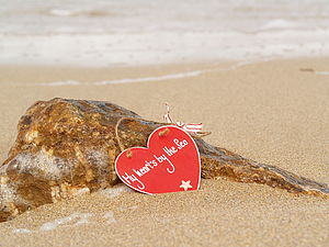 My Heart's by the Sea Wooden Heart - decorative accessories