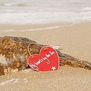 My Heart's by the Sea Wooden Heart
