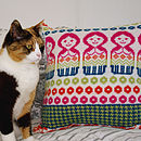 Dolly Mix Bright & Cat Cushion