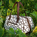 Florence Weekender Bourneville Brown 'London Heart' Print