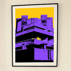 'National Theatre London' Limited Edition Print - limited edition art