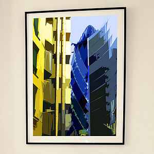 'City of London Version Two' Limited Edition Print - limited edition art
