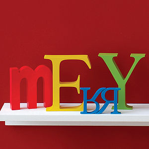 Coloured Wooden Letter - it's my party
