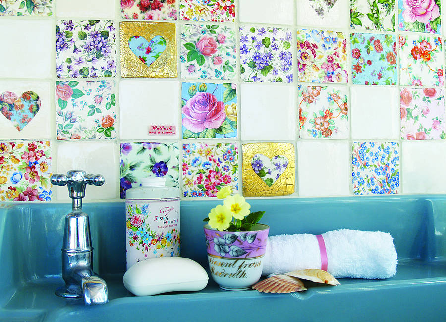 set of patchwork tiles by welbeck tiles