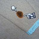 Pointer patches coffee stain