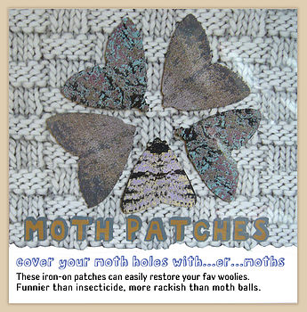 Iron On Moth Patches