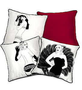 Burlesque Silk Cushion - cushions